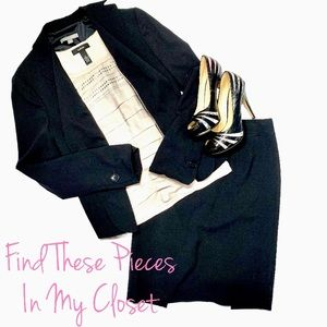 Other - Alfani Top with Black Ann Taylor Blazer & Skirt